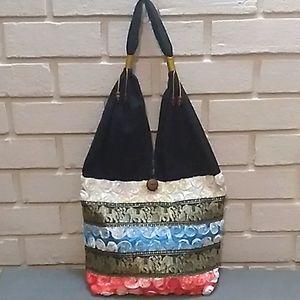 Unique Thailand Made Multicolor Bag. NWOT